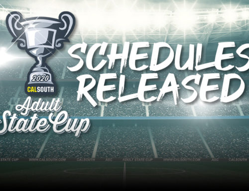 Adult State Cup Schedules Released