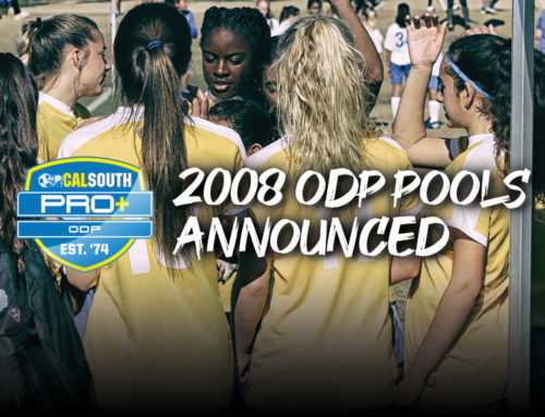Cal South PRO+ ODP Announces 2008 Summer Player Pools